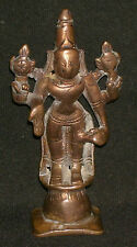 Antique Traditional Indian Ethnic Ritual Bronze Old Figure Of God Vishnu Rare