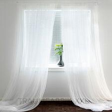 IKEA 2 Gardinenschals Gardinenschal Vorhang Schlaufenschal Gardine weiß 280x300