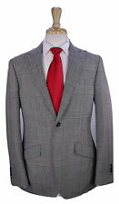 * PHINEAS COLE * Recent Black/White Plaid Peak Lapel 2-Btn Unlined Wool Suit 40R