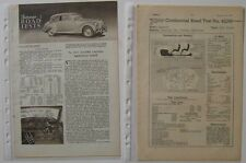Lagonda 2 1/2 litre drop head coupe 2 articles de magazines
