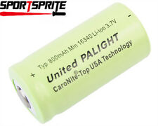 1PC PALIGHT 16340 3.7V 800mAh Rechargeable Li-ion Battery Cell For Flashlight