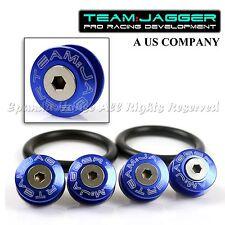FOR VW MODELS! JDM FLUSH WASHERS FRONT QUICK RELEASE BUMPER FASTENER DIY BLUE