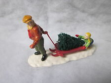 Dept 56 BRINGING HOME THE TREE -  Snow Village - #51691   (a815)