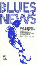 Southend United V Cambridge United   1973  Football League Division 3  Programme