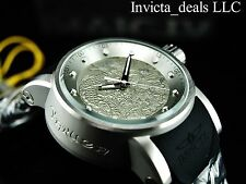 Invicta Men S1 Yakuza Dragon Automatic NH35A Silver Tone SS Silicone Strap Watch