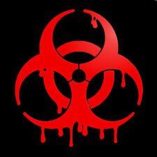Bloody Biohazard Zombie dripping blood Car Decal Sticker 120mm Car decal sticker
