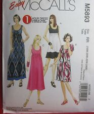 Plus Size Womens Pattern Dress Size RR 18W 20W 22W 24W McCalls 5893 NEW