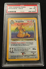 PSA 8 NM-MT 1999 Pokemon Fossil Dragonite - Holo 4/62