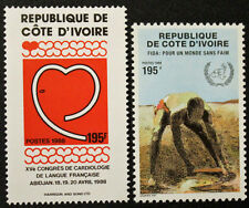 Timbre COTE D'IVOIRE / IVORY COAST Stamp - Yvert & Tellier n°801 & 802 n**(COT1)