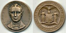MACO Bronze Medal: James Fenimore Cooper of New York.  High Relief Medal.