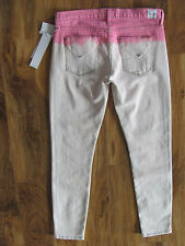 Hudson Krista Crop Super Skinny Jeans -Ombre Chelsea Pink- Size 27 - NWT $189