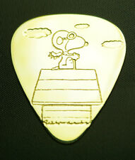 SNOOPY FLYING ACE - Solid Brass Guitar Pick, Acoustic, Electric, Bass
