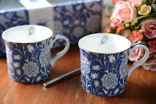 Set of 2 V&A WILLIAM MORRIS Wild Tulip FINE BONE CHINA MUGS