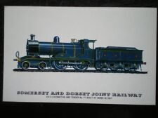 POSTCARD SOMERSET & DORSET RAILWAY LOCO NO 77