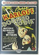 BORIS KARLOFF DOOMED TO DIE CLASSIC HORROR DVD