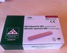 100 Holzmundspatel Holzspatel Wachsspatel spatula waxing stick Mundspatel Arzt
