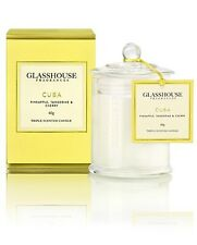 GLASSHOUSE MINI CANDLE 60g -CUBA - PINEAPPLE, TANGERINE & CHERRY - FAST POST