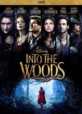 Movie INTO THE WOODS 2014 DVD Action Adventure Rated PG Fun for Family Night New