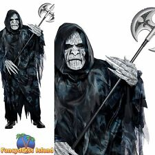 DEATH SOUL TAKER SCARY HOODED CLOAK one size- mens halloween fancy dress costume