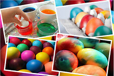 7 CAPSULES PAINTS FOR DYE PAINTING COLOURING EASTER EGGS - FOR 70 EGGS