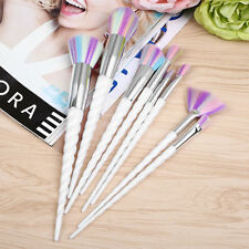 8pcs Natural Unicorn Lovely Makeup Brushes Foundation Blending Brush Tool Set