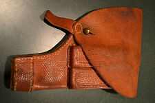 ORIGINAL WWI SWEDISH M1907 HUSQVAMA PISTOL HOLSTER GREAT CONDITION SWEDEN WWII