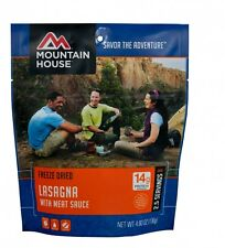 Lasagna w/ Sauce Mountain House Freeze Dried Food serves 2 people/pouchSet of 6