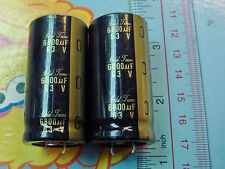 2PCS NICHICON KG GOLD TUNE 6800UF 63V AUDIO GRADE ELECTROLYTIC CAPACITOR E195 YX