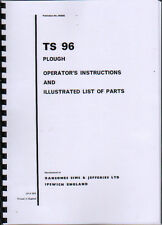"Ransomes ""TS 96"" Conventional Plough Instruction and Illustrated Parts Book"