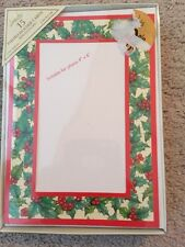 Photo insert 4x6 Christmas Holiday Greeting Cards 15 count Image Arts holly