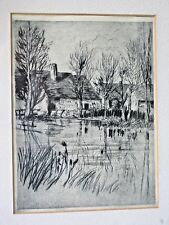 WILSON SILSBY Dry-Point Etching SIGNED Nohant France~ George Sand~LISTED ARTIST~