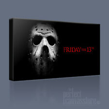 FRIDAY THE 13th HALLOWEEN HORROR MASK ICONIC CANVAS PRINT PICTURE Art Williams