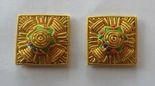 """Mess Dress Gold Pips, Stars, Officers, Army, Military, 7/8"""", Embroidered, Pair"""