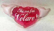 SAN VALENTINO AMORE CUORE GONFIABILE CON ALI MI FAI.... 35 CM INFLATABLE HEART