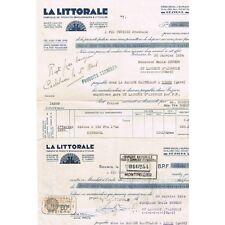La LITTORALE Produits Œnologiques Facture de Mr KRUGER St Laurent d'Aigouze 1934
