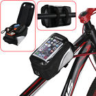 Bike Front Bag Bicycle Cycling Waterproof Frame Pannier Tube Bag For Cell Phone