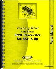 Caterpillar 922B Traxcavator Parts Manual (SN# 88J1 & up)