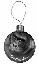 Gorilla 'You Sexy Beast' Christmas Tree Bauble Decoration Gift, AM-12CB