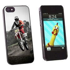 Dirt Bike Off Road Racing Hard Protective Case for Apple iPhone 5 5S - Black