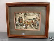 ANTON PIECK 3-D LAYERED PAPER FRAMED SHADOWBOX PICTURE ART FRESH PRODUCE MARKET