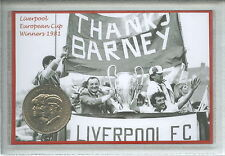 Liverpool YNWA Vintage Bob Paisley European Cup Final Winners Coin Gift Set 1981