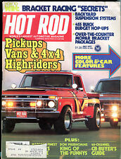 Hot Rod Magazine July 1977 Pickups Vans & 4x4 Highriders VG 011916jhe