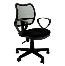 Brand New Student Task Chair in Black Fabric & Mesh