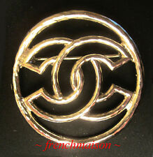 AUTHENTIC CHANEL CC Logo PIN BROOCH Gold Classic 2017 Cruise New