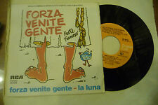 "FRATE FRANCESCO""FORZA VENITE GENTE- disco 45 giri RCA It 1981""COMMEDIA MUSICALE"
