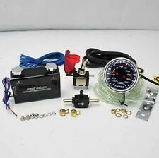 "BLACK DUO SETTING ROCKET SWITCH TURBO BOOST CONTROLLER +2"" LED 35PSI BOOST GAUGE"