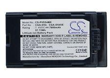 7.4V Battery for Panasonic AG-DVC32 AG-DVC33 AG-DVC60 CGA-D54 Premium Cell