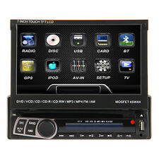 "Motorized 7"" HD 1Din In-Dash Car DVD Stereo Player ,BT,Touch Screen"