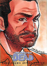 Walking Dead Comic Series Two Sketch Card by Camila Fortuna of Tyreese