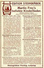 Steingräber Leipzig VERLAG EDITION STEINGRÄBER Historische Reklame von 1914